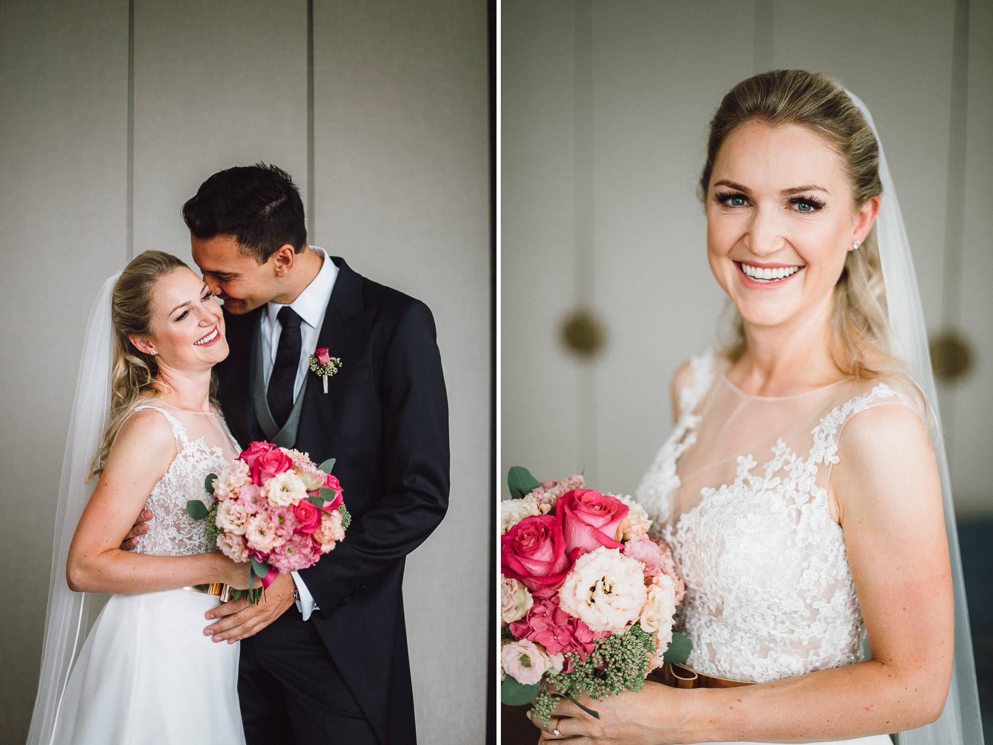 Brautpaarfotos im Hotelzimmer
