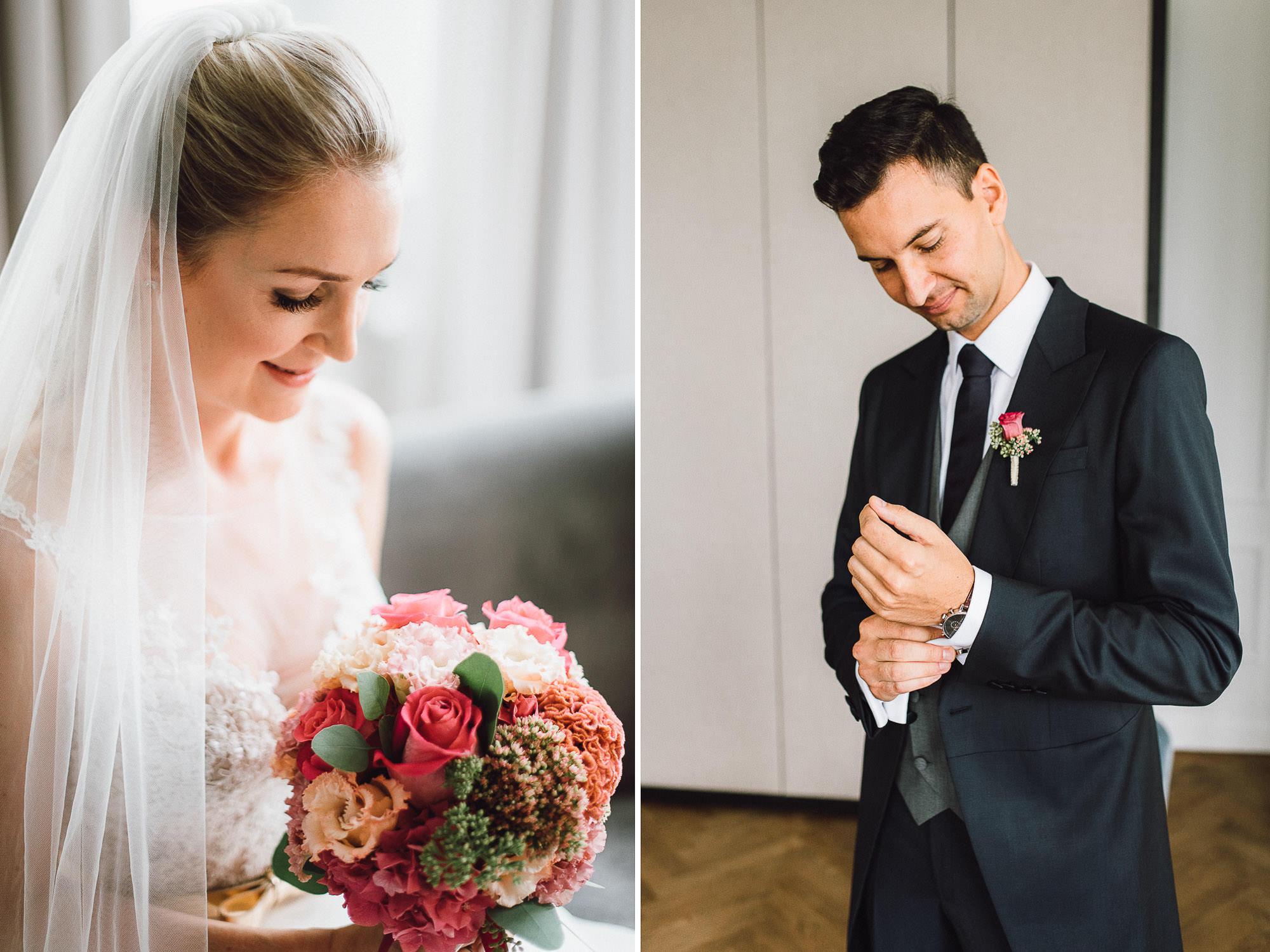 Einzelportraits Braut und Bräutigam