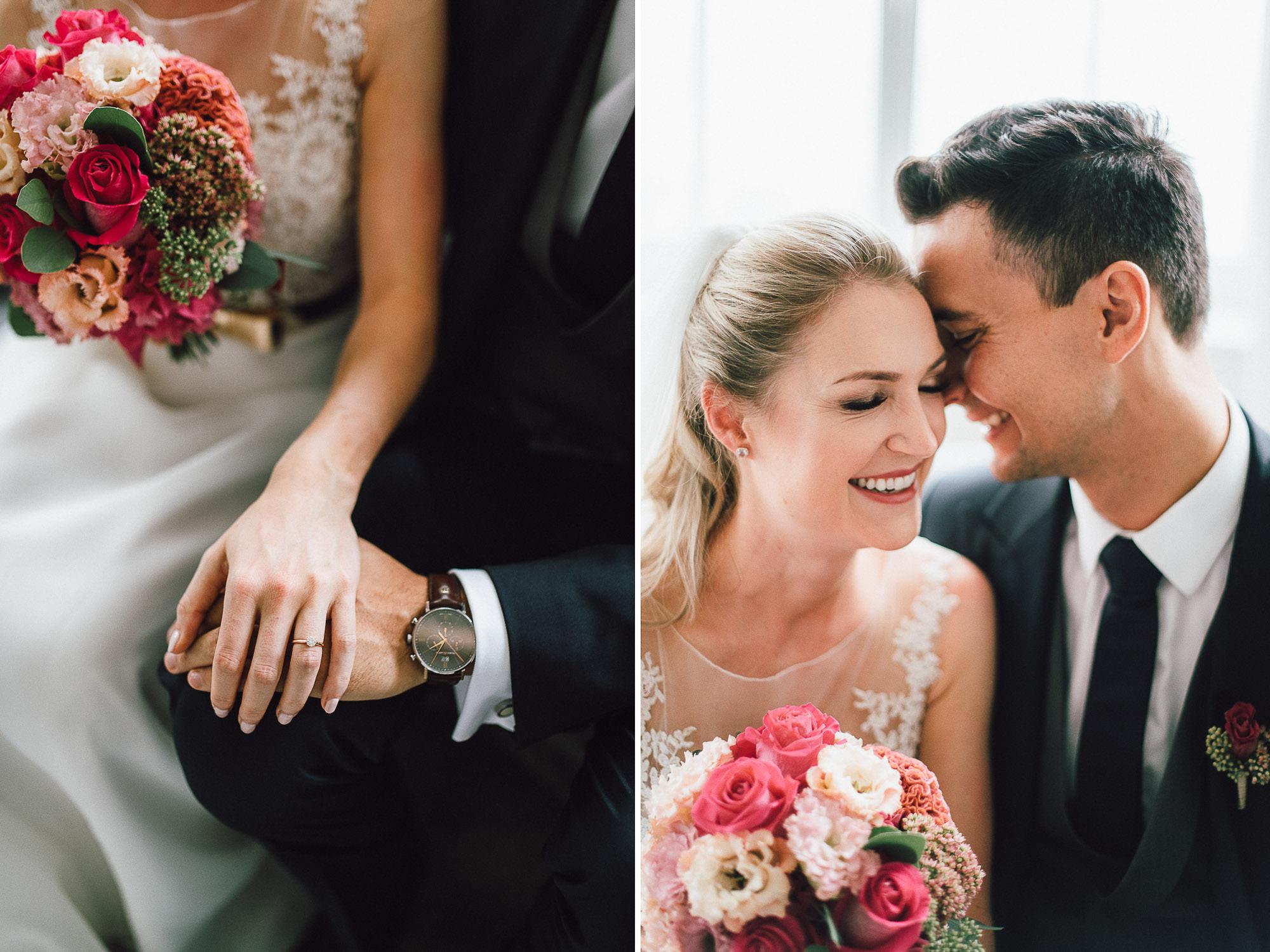 Inniges Portrait von Braut und Bräutigam